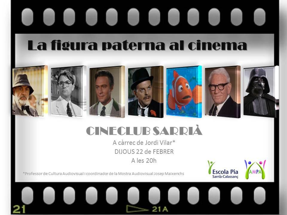 "ElCinema-club. 1a sessió: ""La figura paterna alcinema"""